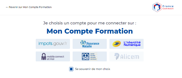 ACACED Mon compte formation
